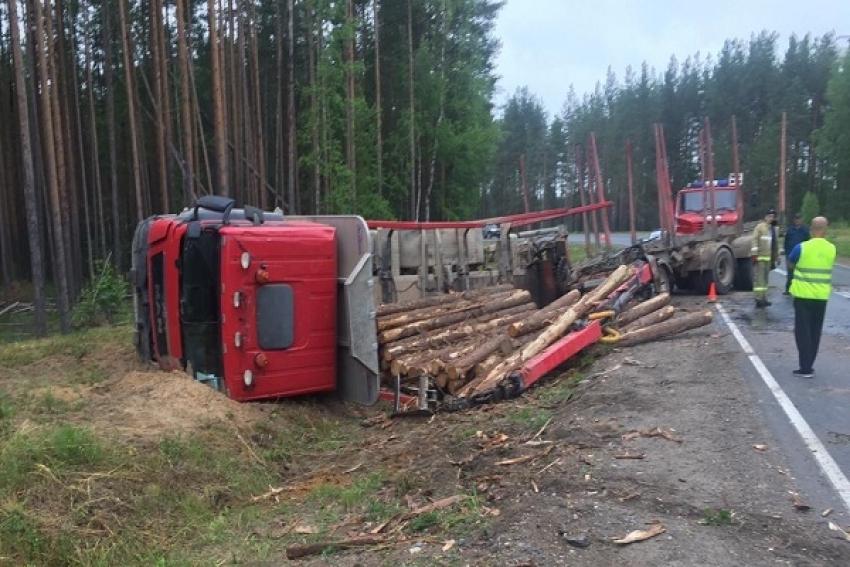 В Пинежском районе водитель лесовоза получил травмы на технологической трассе