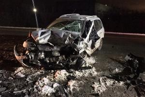 ДТП на трассе Архангельск - Северодвинск: легковушка столкнулась с грузовиком и внедорожником, погибла женщина