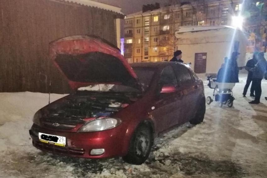 В Северодвинске огнём повреждена иномарка