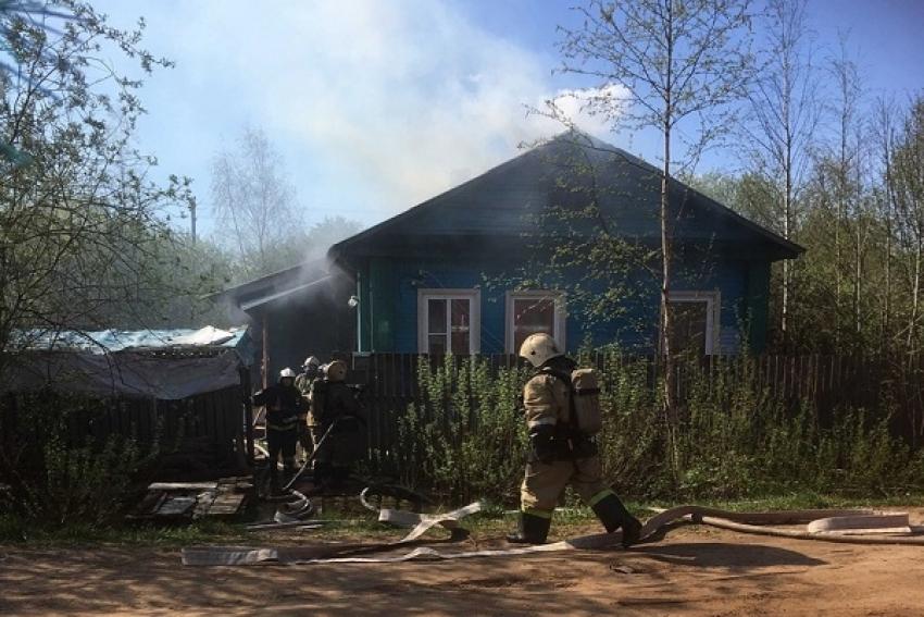 Житель Котласа пострадал при пожаре