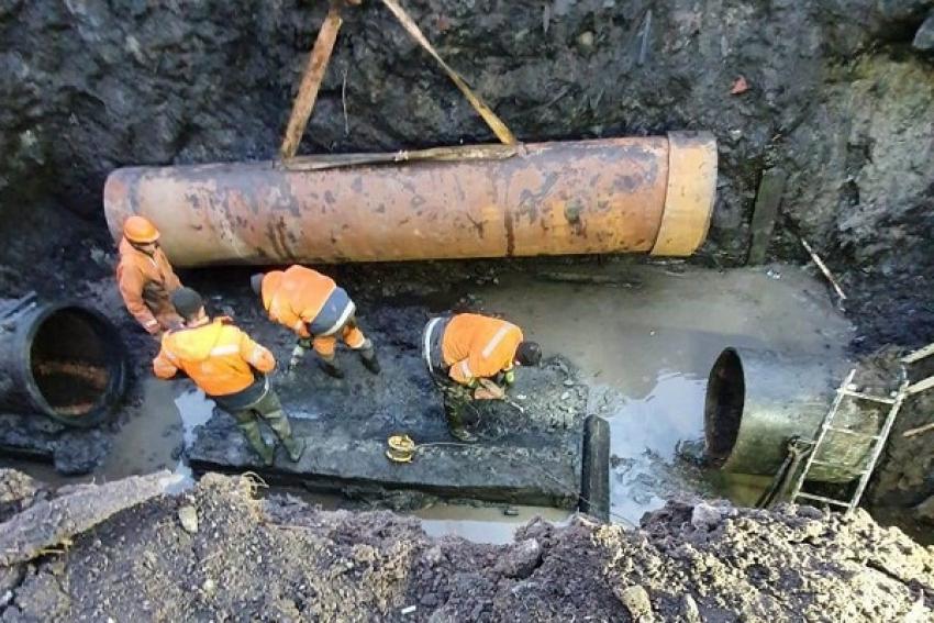 Авария на водоводе в Архангельске устранена