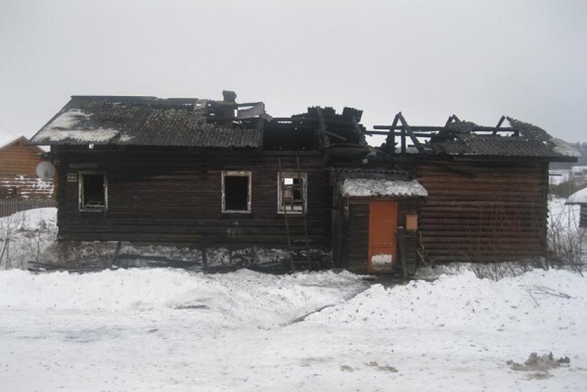 В Устьянском районе сгорел жилой дом