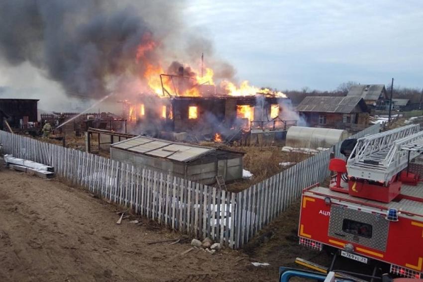 В Красноборском районе у семьи фермера сгорел дом