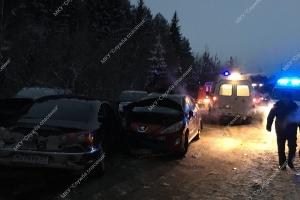 Трое человек пострадали в ДТП под Котласом