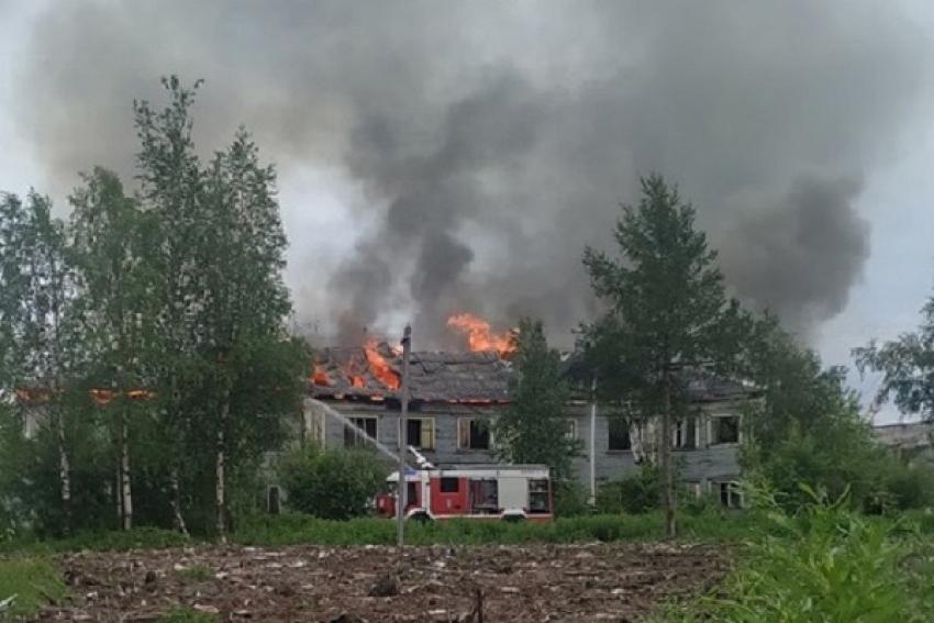 Предположительная причина пожара в округе Варавино-Фактория – детская шалость с огнем