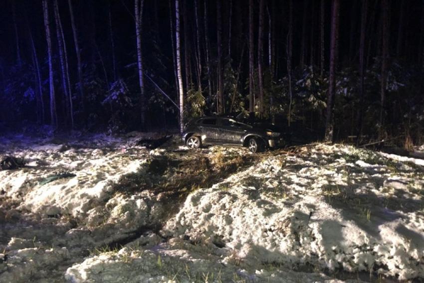 ДТП в Котласском районе: столкнулись легковая «Митсубиси» и грузовой «Мерседес». Есть погибшие и пострадавшие