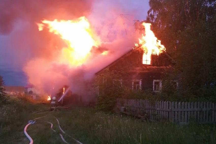 Пожар в Каргопольском районе: погиб мужчина